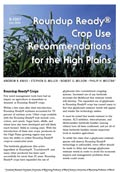 Roundup ready Crop Use Recommendations for High Plains cover
