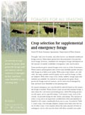 Crop Selection for Supplemental and Emergency Forage cover