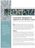 Foxtail Millet: Management for Supplemental and Emergency Forage cover