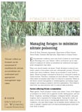 Managing Forages to Minimize Nitrate Poisoning cover