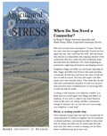 Agricultural Producers and Stress: When Do You Need a Counselor? cover