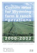 Custom Rates for Wyoming Farm and Ranch Operations 2000-2002 cover