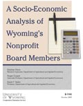 A Socio-Economic Analysis of Wyoming's Nonprofit Board Members cover