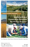 Implementing a Cooperative Permittee Monitoring Program: Sublette Cty cover