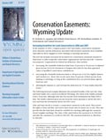 Wyoming Open Spaces: Conservation Easements: Wyoming Update cover