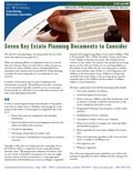Seven Key Estate Planning Documents to Consider cover