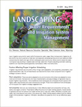 Landscaping: Water Requirements and Irrigation System Management cover
