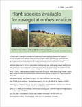 Plant species available for revegetation/restoration cover