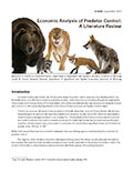 Economic Analysis of Predator Control: A Literature Review cover