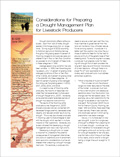 Considerations for Preparing a Drought Management Plan for Livestock Producers cover