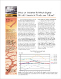 Price or Weather - Which Signal Should Livestock Producers Follow? cover
