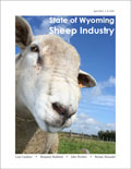 State of Wyoming Sheep Industry cover