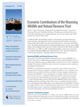 Wyoming Open Spaces: Economic Contributions of the Wyoming Wildlife and Natural Resource Trust cover