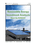 Renewable Energy Investment Analysis: What is the Payback? cover