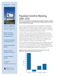 Wyoming Open Spaces: Population Growth in Wyoming, 2000-2010 cover