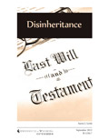 Planning Ahead, Difficult Decisions: Disinheritance cover