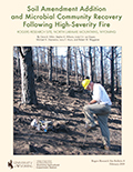 Rogers Research Site Bulletin 8: Soil Amendment Addition and Microbial Community Recovery Following High-Severity Fire at Rogers Research Site, north Laramie Mountain, Wyoming cover