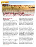 The Economic Importance of Wyoming Agricultural Production cover