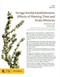 Forage Kochia Establishment: Effects of Planting Time and Grass Mixtures cover