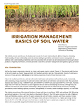 Irrigation Management: Basics of Soil Water cover