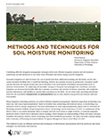 Methods and techniques for soil moisture monitoring cover