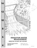 Irrigation Water Measurement: Irrigation Ditches and Pipelines cover