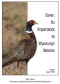 Cover: Its Importance to Wyoming's Wildlife cover