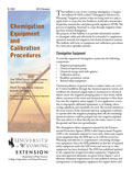 Chemigation Equipment and Calibration Procedures cover