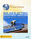 Solar Electric Investment Analysis - Part 6: PV Solar Example cover