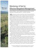 Monitoring : A Tool for Effective Rangeland Management cover