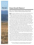 Grass Growth Basics I cover