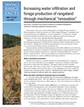 Increasing Water Infiltration and Forage Production of Rangeland Through Mechanical Renovation cover