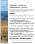 Cheatgrass Ecology and Management in Wyoming cover