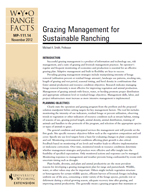 Grazing Management for Sustainable Ranching cover