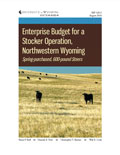 Enterprise Budget for a Stocker Operation, Northwestern Wyoming <i>Spring-purchased, 600-pound Steers</i> cover