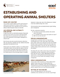 Establishing and Operating Animal Shelters cover