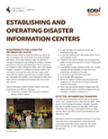 Establishing and Operating Disaster Information Centers cover