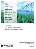 Plant Pathology Research and Demonstration Progress Report -- 1995-96 cover
