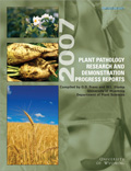 Plant Pathology Research and Demonstration Progress Report -- 2007 cover