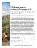 Prickly pear cactus, Ecology and management cover