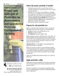 Proper and Safe Use of Pesticides by Homeowners and Laundering Pesticide-Contaminated Clothing cover