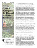 Effect of Water pH on the Chemical Stability of Pesticides cover