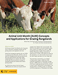 Animal Unit Month (AUM) Concepts and Applications for Grazing Rangelands cover
