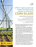 B-1326 Different irrigation systems and nitrogen rates improve yield and water use efficiency of corn silage cover