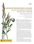 Meadow Bromegrass-Legume Mixtures for Diversified and Profitable Hay Production in Wyoming cover