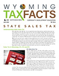 Wyoming Tax Facts State Sales Tax cover