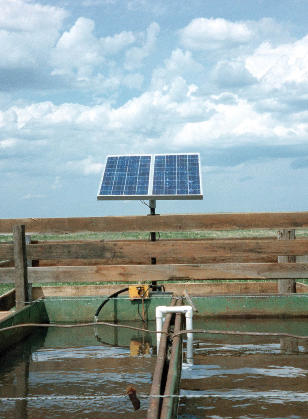 This Solar Powered Water Pumping Station Is Located On The Martin Ketterling Ranch North